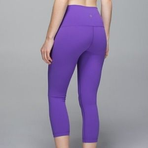 Lululemon High Rise Wunder Under Crop
